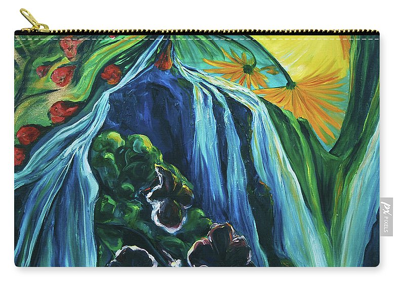 Floral Carry-all Pouch featuring the painting Light Dawns On A Floating World by Jennifer Christenson