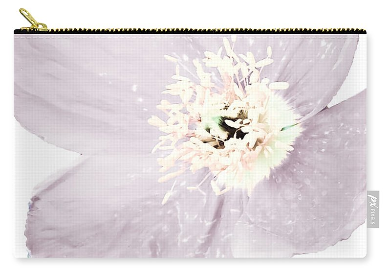 Light Carry-all Pouch featuring the photograph Light Dusty Lavender Poppy by Heather Joyce Morrill