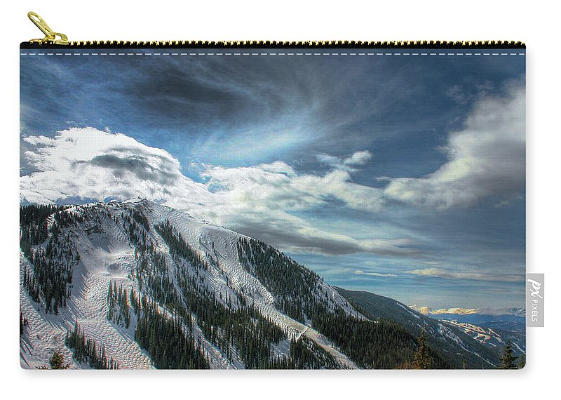 Mountain Carry-all Pouch featuring the photograph Light Fades On Arapaho Basin by Wayne King