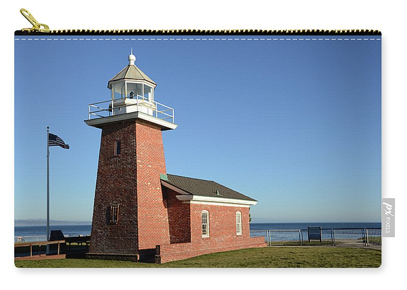 California Carry-all Pouch featuring the photograph Light House At Santa Cruz by Bob Christopher