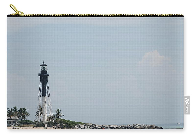 Light House Carry-all Pouch featuring the photograph Light House Point by Rob Hans