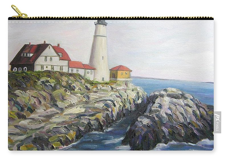 Portland Carry-all Pouch featuring the painting Light House by Richard Nowak