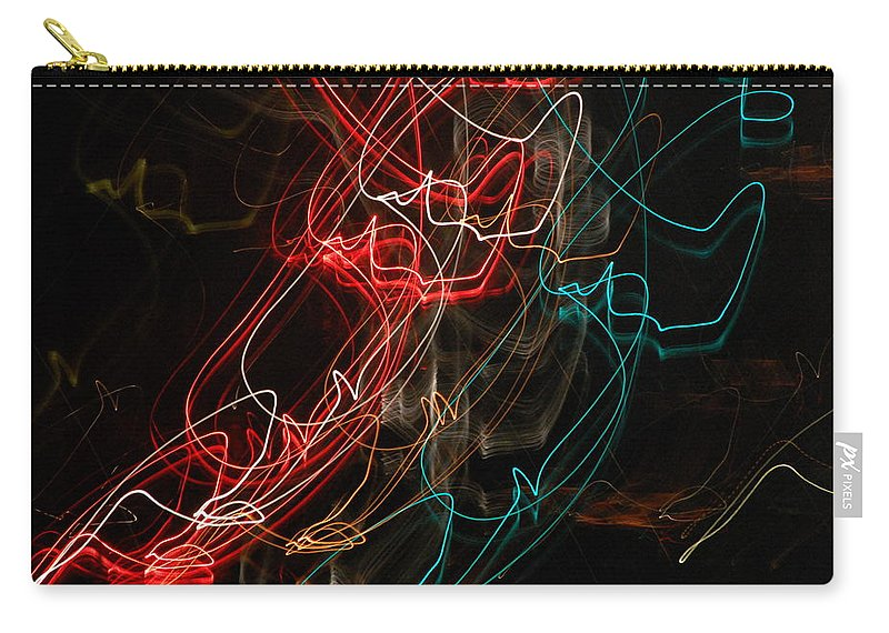 Abstract Digital Photo Carry-all Pouch featuring the photograph Light In Motion by David Lane