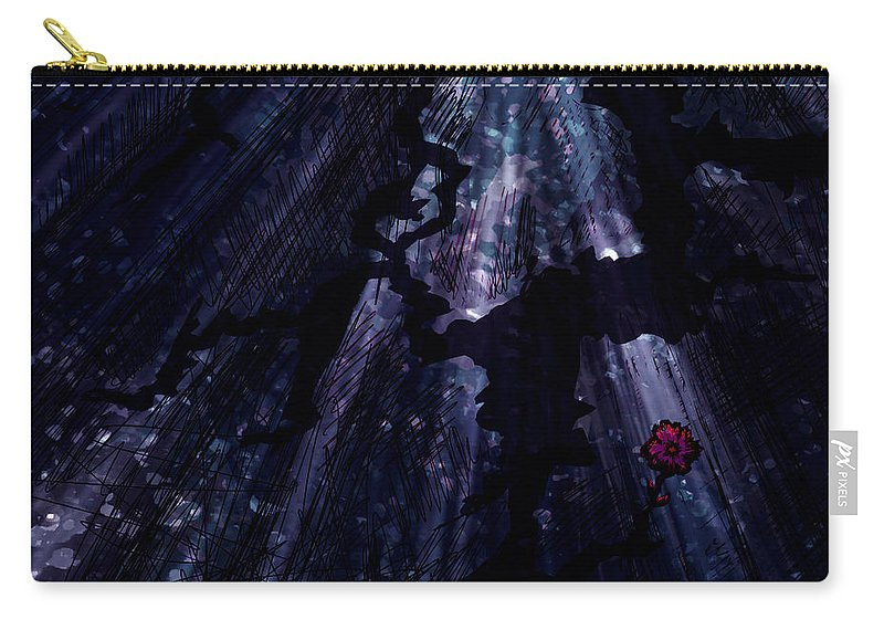 Abstract Carry-all Pouch featuring the digital art Light In The Darkness by Rachel Christine Nowicki