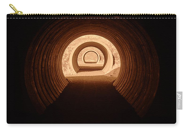 Finland Carry-all Pouch featuring the photograph Light In The Tunnel 5 by Jouko Lehto