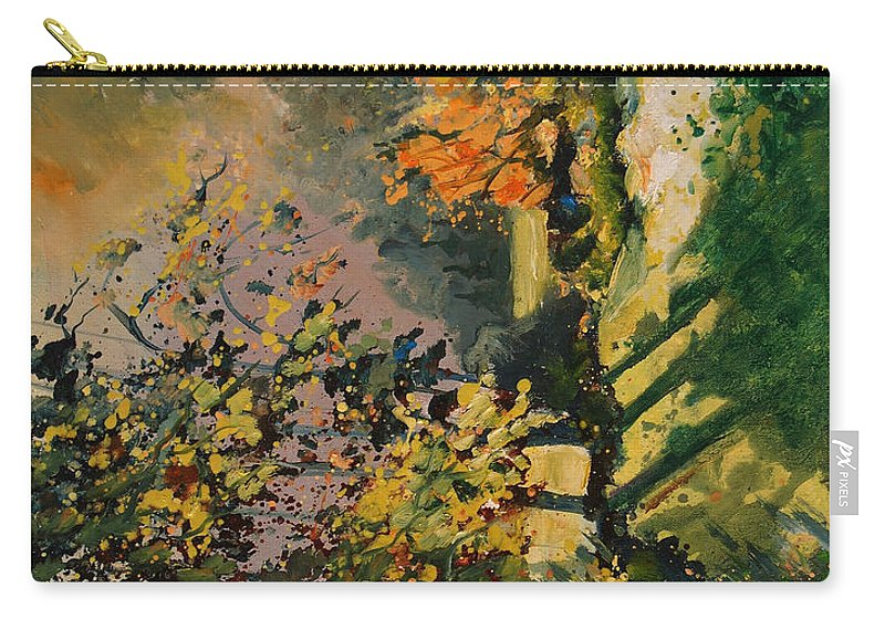 River Carry-all Pouch featuring the painting Light In The Wood by Pol Ledent