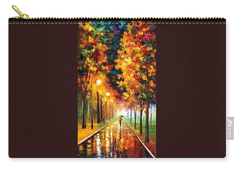 Afremov Carry-all Pouch featuring the painting Light Of Autumn by Leonid Afremov