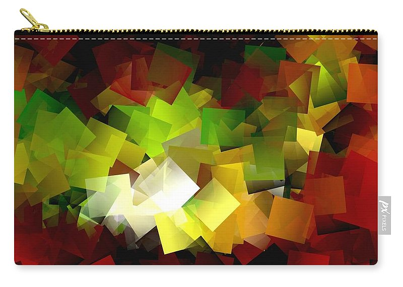 Kubic Carry-all Pouch featuring the digital art Light On The End Of Darkness by Helmut Rottler