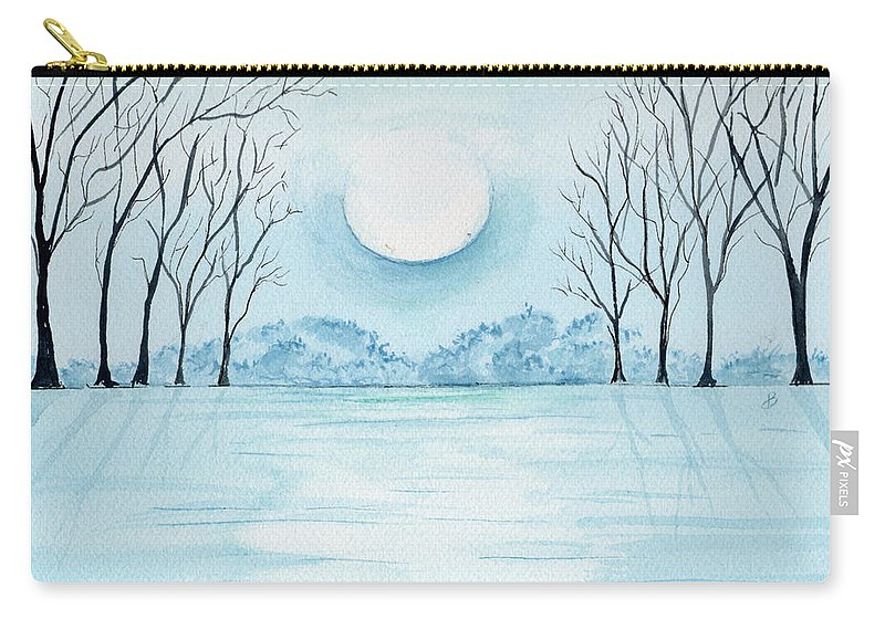 Watercolor Carry-all Pouch featuring the painting Light On The Field by Brenda Owen