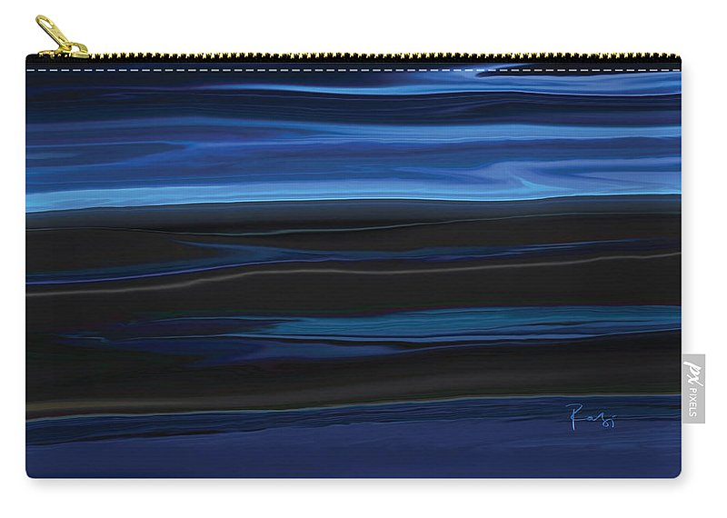 Black Carry-all Pouch featuring the digital art Light On The Horizon by Rabi Khan