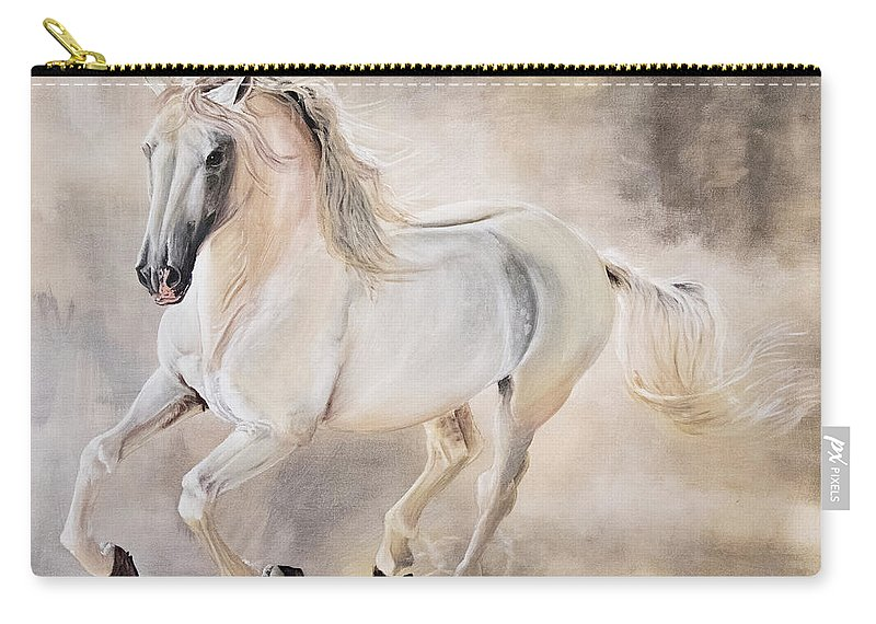 White Carry-all Pouch featuring the painting Light Play by Dana Sherstad