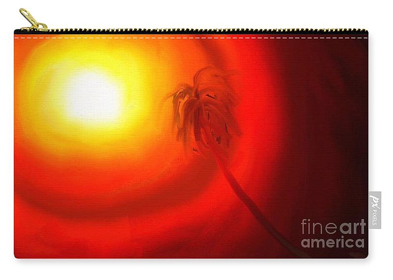 Digital Carry-all Pouch featuring the painting Light by Rushan Ruzaick