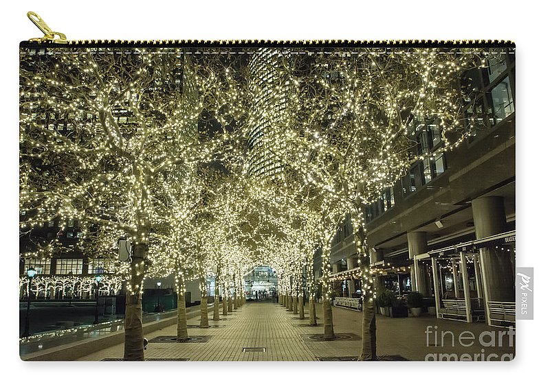 Lights Carry-all Pouch featuring the photograph Light Scene by Reynaldo Brigantty