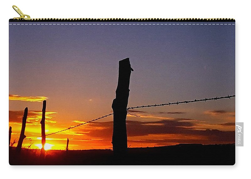 Landscape/ Sunrise Carry-all Pouch featuring the photograph Light Shines Upon Them by Rudy Gallegos