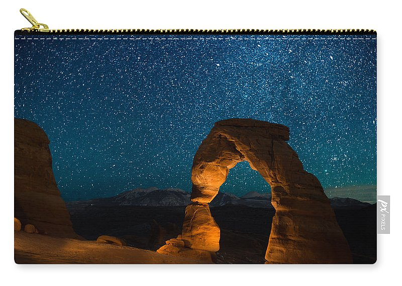 Delecate Arch Carry-all Pouch featuring the photograph Light Show by Jon Blake