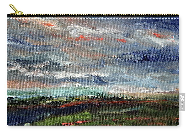 Nature Carry-all Pouch featuring the painting Light Upon The Marsh by Michael Helfen