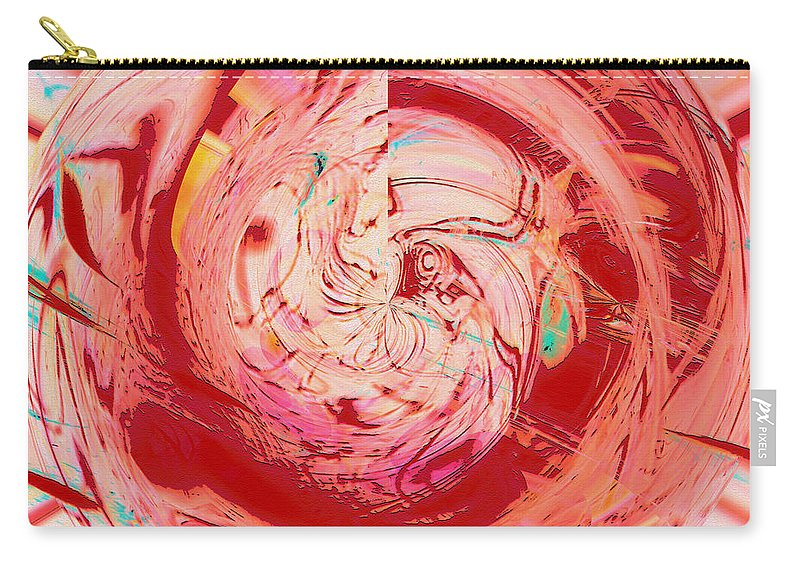 Abstract Art Carry-all Pouch featuring the digital art Light Waves by Linda Sannuti