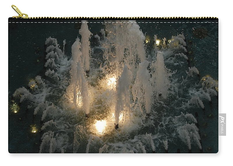 Lights Carry-all Pouch featuring the photograph Lighted Fountain by Rob Hans