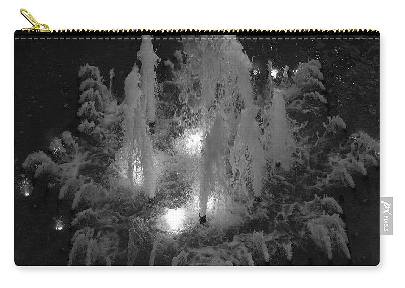 Fountian Carry-all Pouch featuring the photograph Lighted Star Fountian by Rob Hans