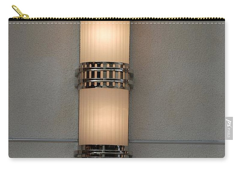 Sconce Carry-all Pouch featuring the photograph Lighted Wall Sconce by Rob Hans