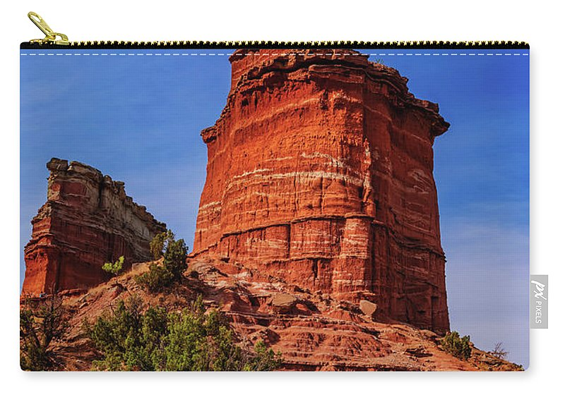 Canyon Carry-all Pouch featuring the photograph Lighthouse At Palo Duro Canyon by Stephen Anderson