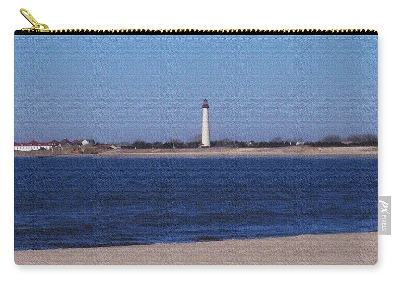 Lighthouse Carry-all Pouch featuring the photograph Lighthouse At The Point by Pharris Art