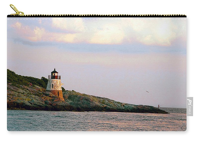 Lighthouse Carry-all Pouch featuring the photograph Lighthouse Castle Hill by Steven Natanson