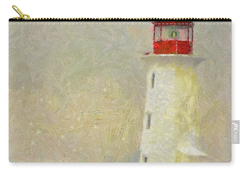 Canadian Carry-all Pouch featuring the painting Lighthouse by Jeffrey Kolker
