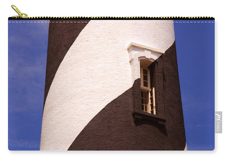 Lighthouse Carry-all Pouch featuring the photograph Lighthouse Stripes by Susanne Van Hulst
