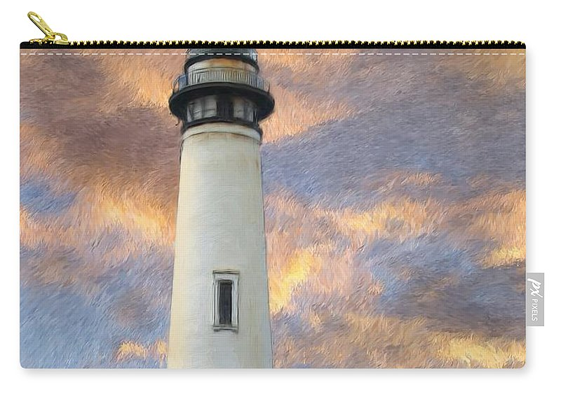 Lighthouse Art Carry-all Pouch featuring the digital art Lighthouse Visitors by Snake Jagger