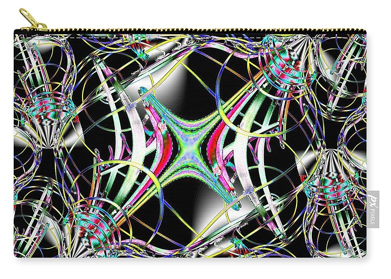 Seattle Carry-all Pouch featuring the photograph Lighting Supply Fractal by Tim Allen
