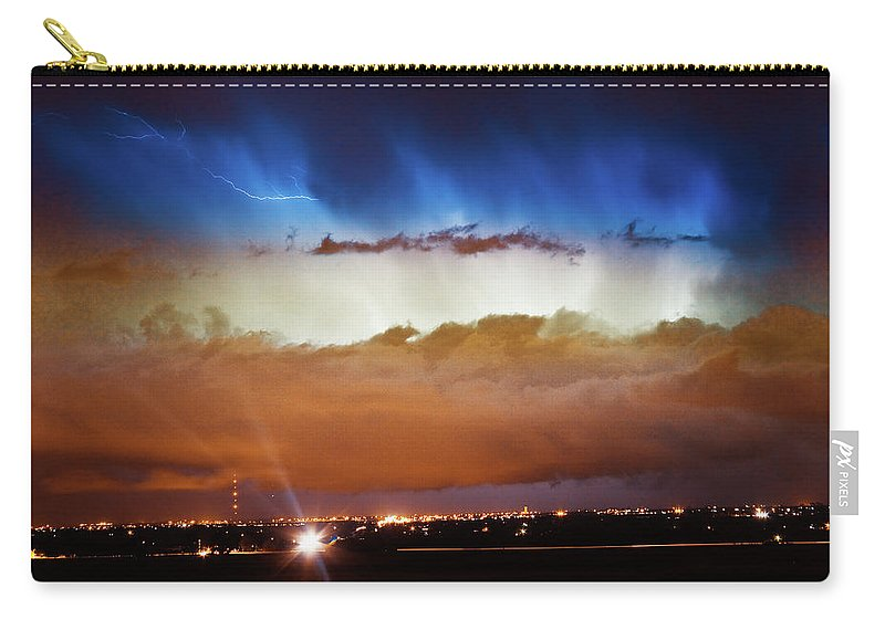 bo Insogna Carry-all Pouch featuring the photograph Lightning Cloud Burst Boulder County Colorado Im34 by James BO Insogna