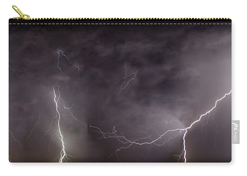 Lightning Carry-all Pouch featuring the photograph Lightning Over Perris by Anthony Jones