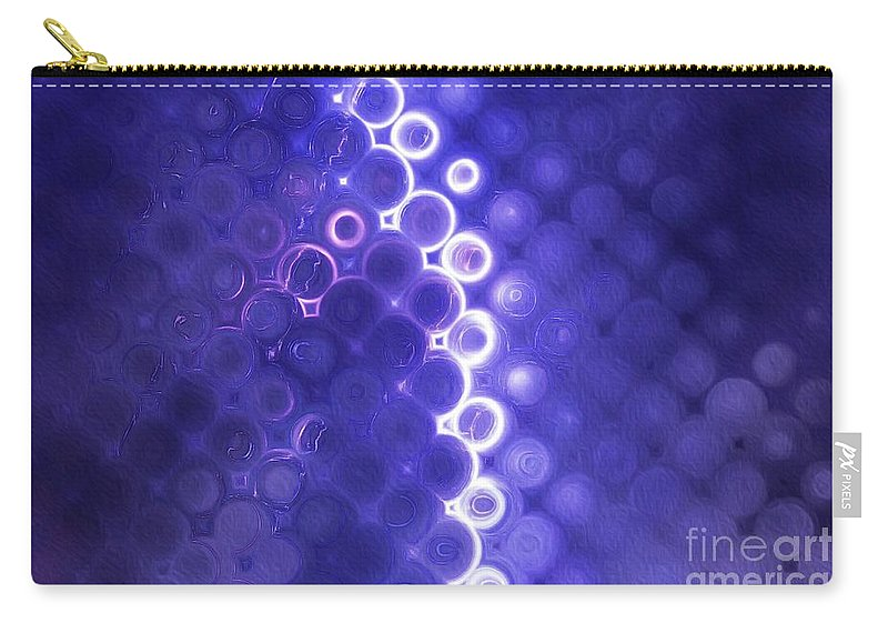 Pattern Carry-all Pouch featuring the painting Lightning Strike by Esoterica Art Agency