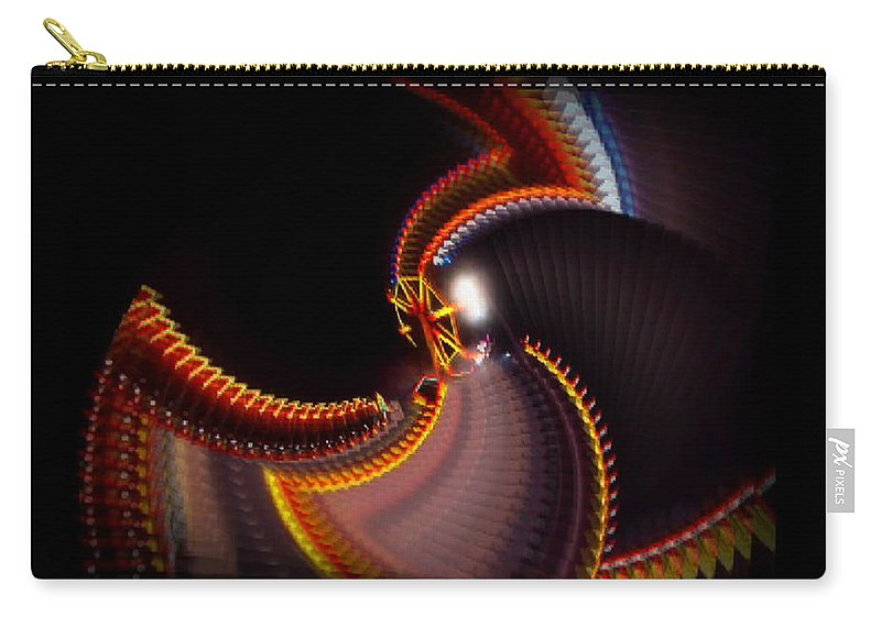 Chaos Carry-all Pouch featuring the painting Lightning Wheel by Charles Stuart
