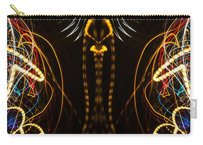 Light Carry-all Pouch featuring the photograph Lightpainting Panorama Print Photograph 4 by John Williams