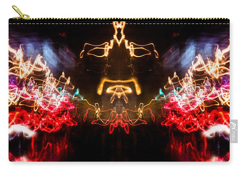 Lightpainting Carry-all Pouch featuring the photograph Lightpainting Panorama Print Photograph 6 by John Williams