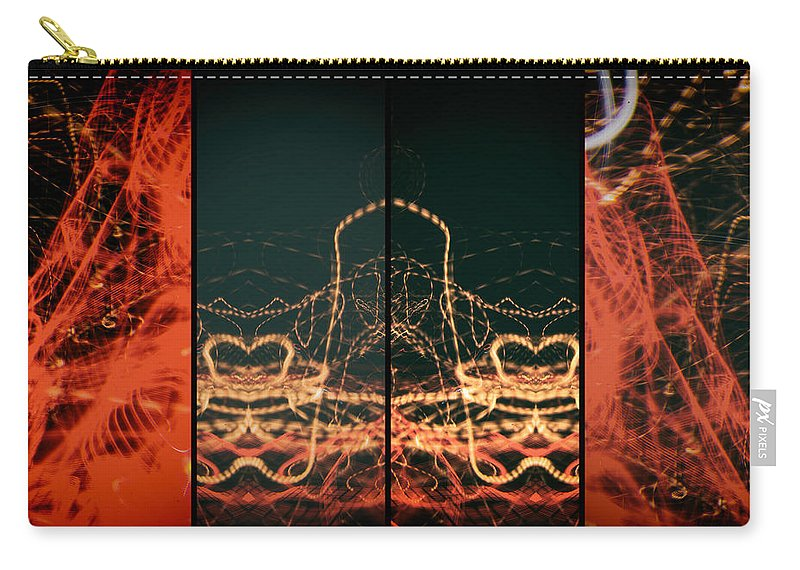 Form Carry-all Pouch featuring the photograph Lightpainting Quads Art Print Photograph 1 by John Williams