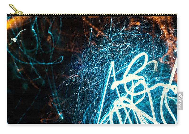 Dark Carry-all Pouch featuring the photograph Blue Fuzz Of Depth by John Williams
