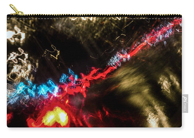 Symbolic Carry-all Pouch featuring the photograph Blurred Ladder by John Williams