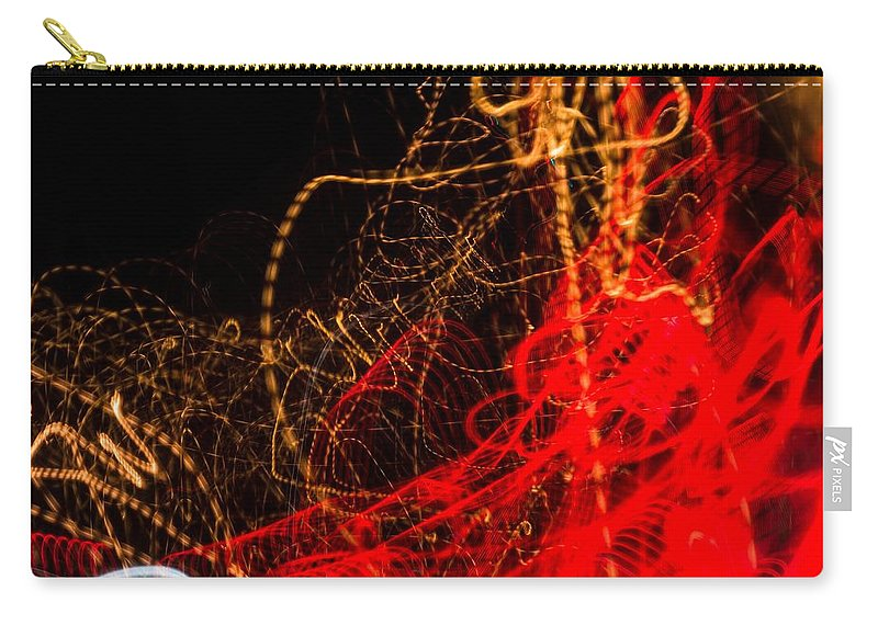 Long Exposure Carry-all Pouch featuring the photograph Lightpainting Single Wall Art Print Photograph 2 by John Williams
