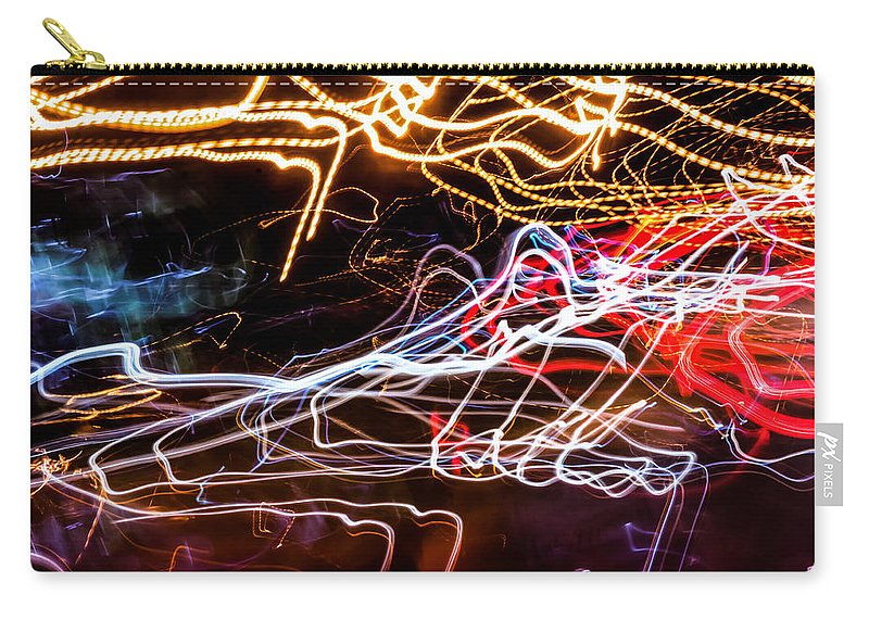 Modern Lightpainting Carry-all Pouch featuring the photograph Lightpainting Single Wall Art Print Photograph 6 by John Williams