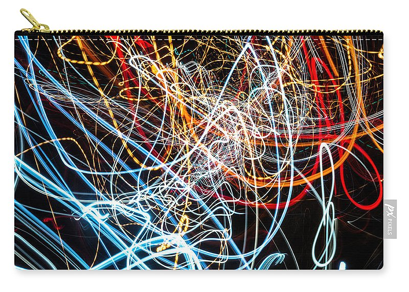 Fine Art Photograph Carry-all Pouch featuring the photograph Lightpainting Single Wall Art Print Photograph 9 by John Williams