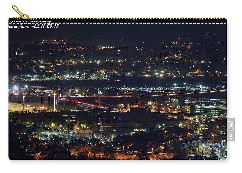 Birmingham Carry-all Pouch featuring the photograph Lights Across Birmingham by Jeffery Gordon