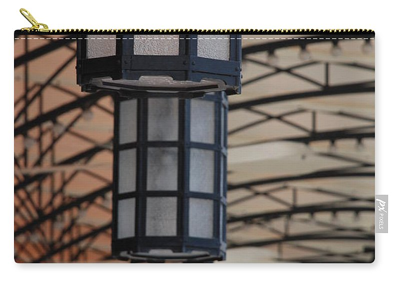 Architecture Carry-all Pouch featuring the photograph Lights At City Place by Rob Hans