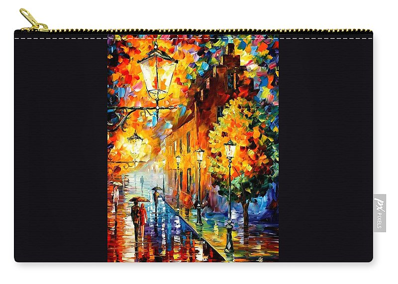 Afremov Carry-all Pouch featuring the painting Lights In The Night by Leonid Afremov