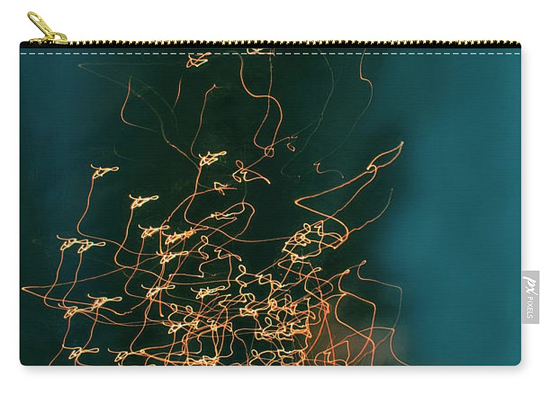 Abstract Carry-all Pouch featuring the photograph Lights by Linda Sannuti