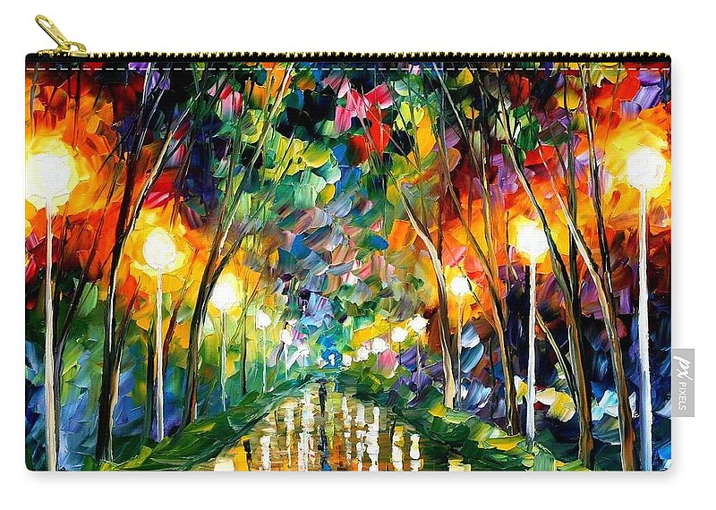 Afremov Carry-all Pouch featuring the painting Lights Of Hope by Leonid Afremov