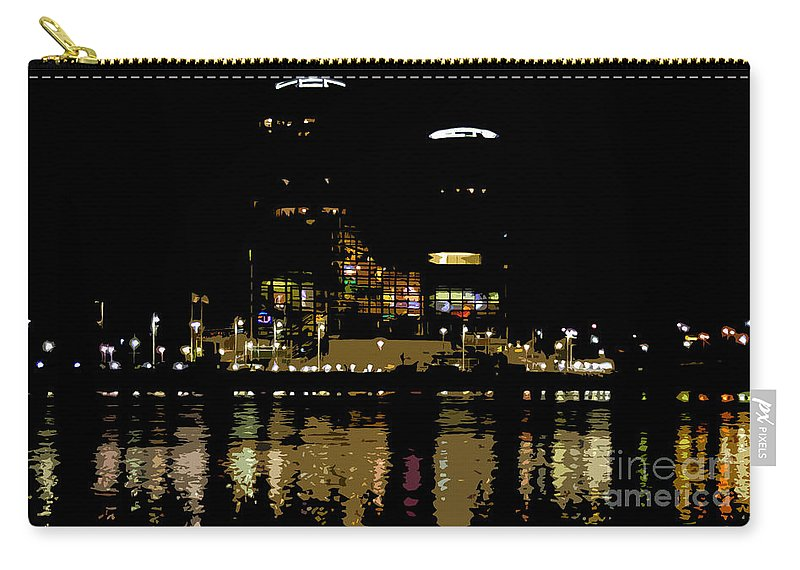Tampa Museum Of History Carry-all Pouch featuring the painting Lights On History by David Lee Thompson
