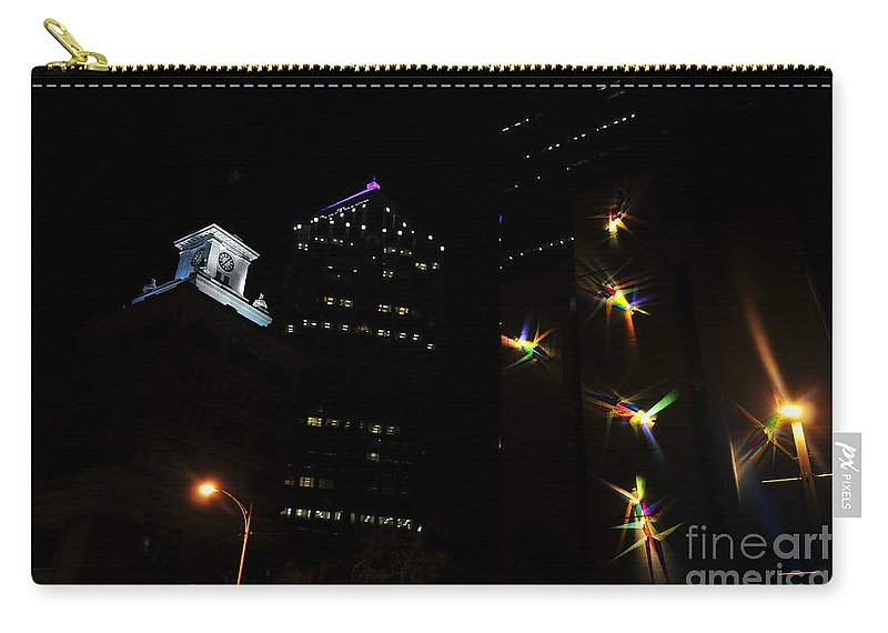 Night Lights Carry-all Pouch featuring the photograph Lights On Tampa by David Lee Thompson